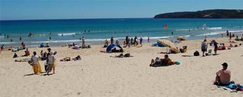 the beach near Merimbula town centre