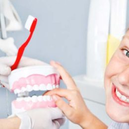 girl smiling at dentist