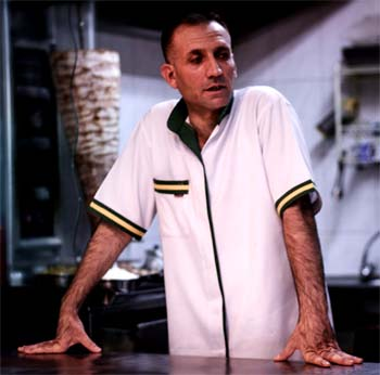 unhappy kebab store owner